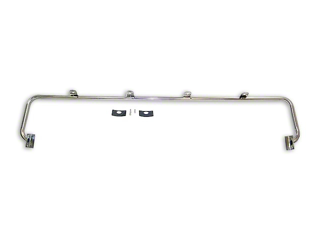 Stainless Steel Light Bar with 4-Light Tabs (87-95 Jeep Wrangler YJ)