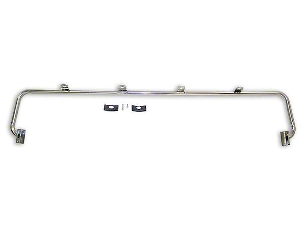 RT Off-Road Stainless Steel Light Bar w/ 4 Light Tabs (87-95 Jeep Wrangler YJ)