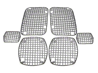 RT Off-Road Stone Guard Set - Stainless (87-95 Jeep Wrangler YJ)