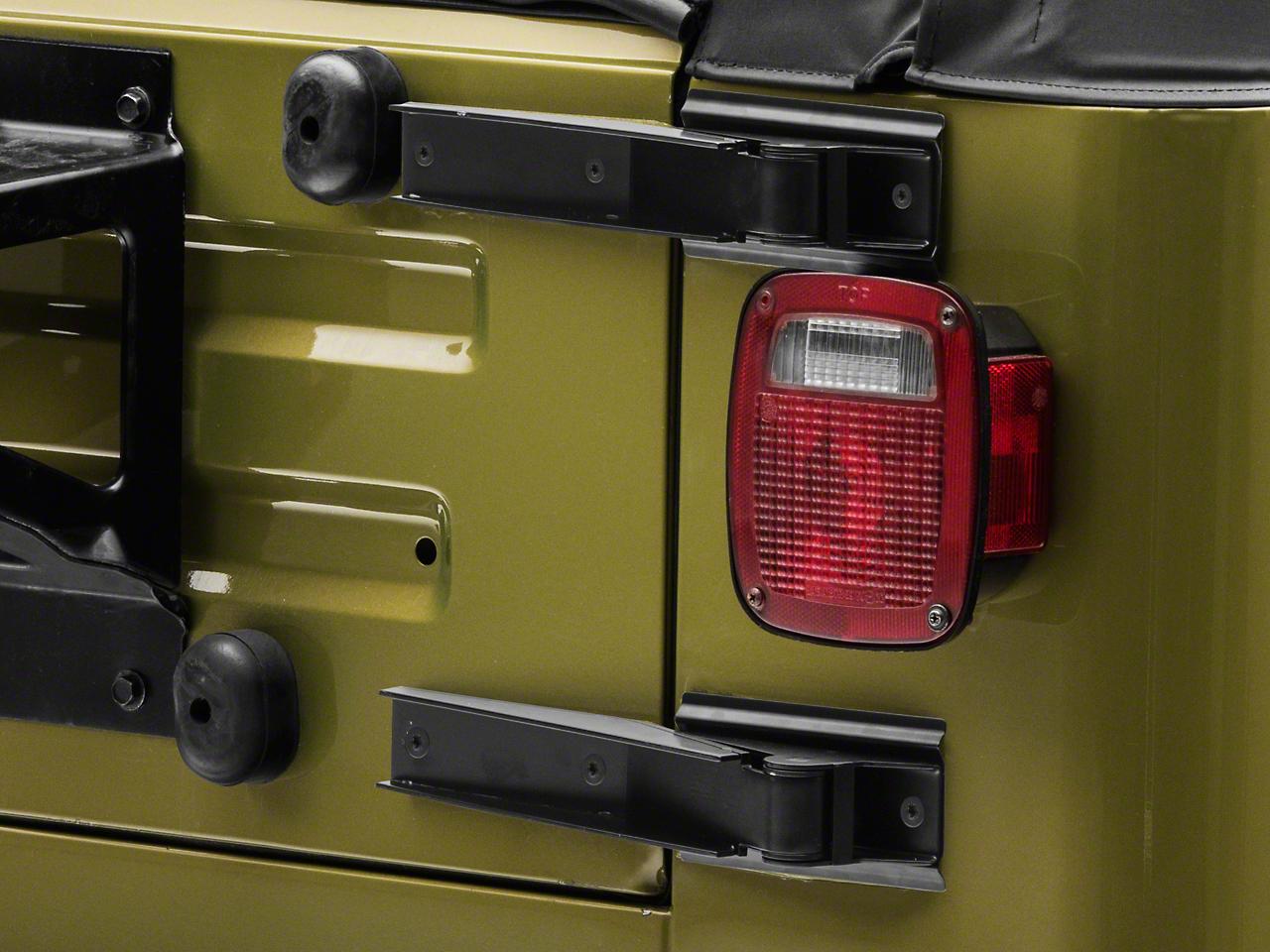 Tailgate Hinge Set - Black (97-06 Jeep Wrangler TJ)