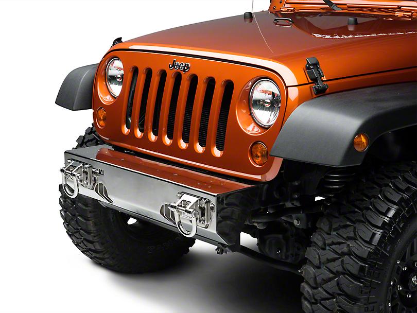 Rugged Ridge XHD Light Mount Modular Non-Winch Front Bumper - Stainless Steel (07-18 Jeep Wrangler JK)