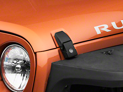 RT Off-Road Black Hood Catch Kit - Locking (07-18 Jeep Wrangler JK)
