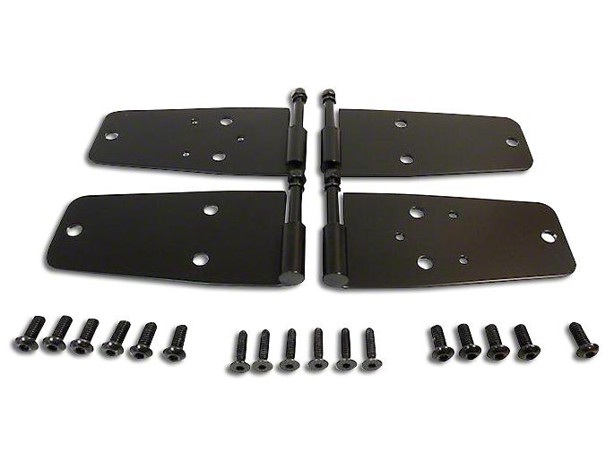 RT Off-Road Door Hinge Set - Black Stainless (87-95 Jeep Wrangler YJ w/ Full Doors)