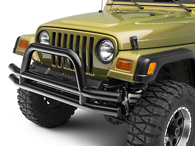 RT Off-Road Front Double Tube Bumper - Black (87-06 Wrangler YJ & TJ)
