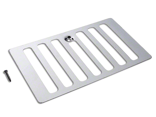 Hood Vent Cover; Stainless Steel (98-06 Jeep Wrangler TJ)