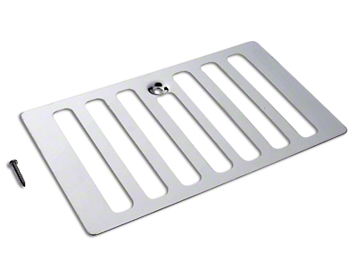 RT Off-Road Hood Vent Cover - Stainless Steel (98-06 Jeep Wrangler TJ)