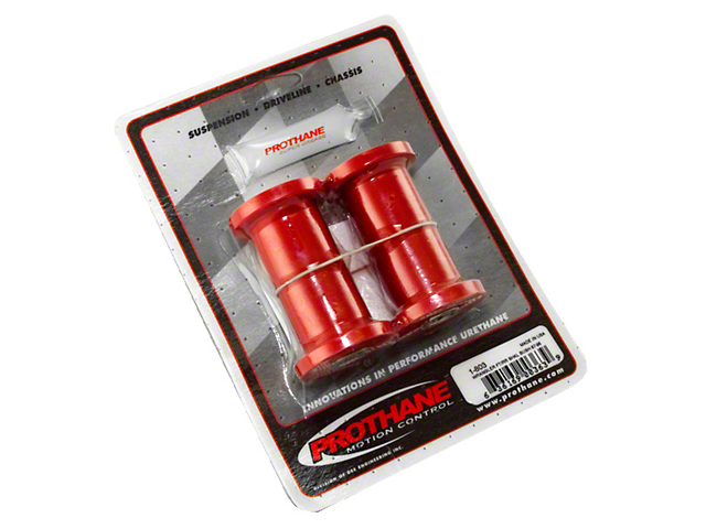 Front/Rear Shackle Bushing Kit - Red (87-95 Jeep Wrangler YJ)