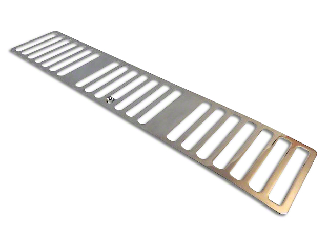 Hood Vent Cover - Stainless Steel (1997 Jeep Wrangler TJ)