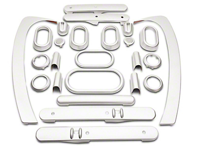 RT Off-Road Interior Trim Kit - Brushed Silver (07-10 Wrangler JK 4 Door w/ Power Windows & Automatic Transmission)