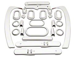 Interior Trim Kit; Brushed Silver (07-10 Jeep Wrangler JK 4-Door w/ Power Windows & Automatic Transmission)