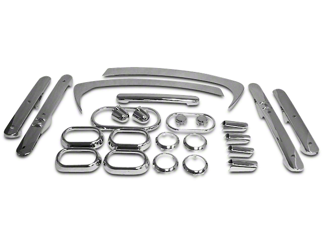 Interior Trim Kit; Chrome (07-10 Jeep Wrangler JK 4 Door w/ Power Windows & Automatic Transmission)