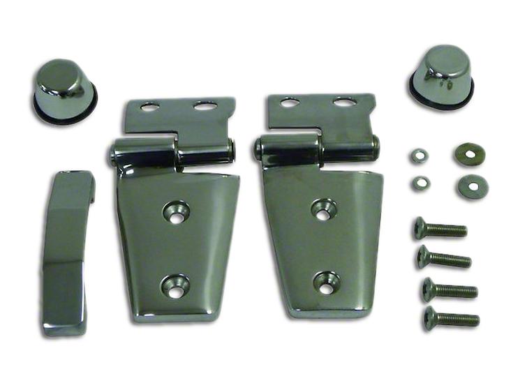 RT Off-Road Stainless Steel Hood Hinge Kit (07-18 Jeep Wrangler JK)