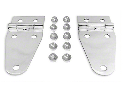 RT Off-Road Stainless Steel Hood Hinge Set (87-95 Wrangler YJ)
