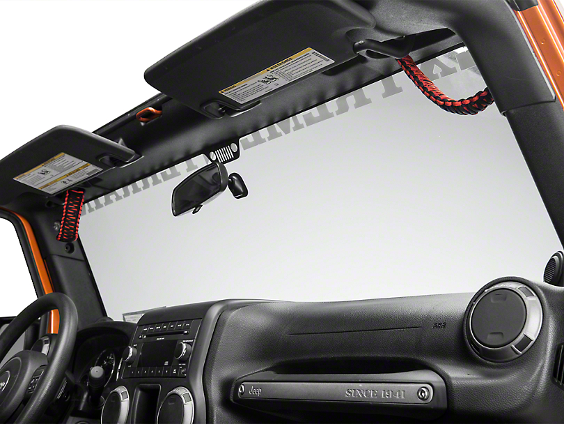 Rugged Ridge Paracord A-Pillar Grab Handles - Red (07-20 Jeep Wrangler JK & JL)