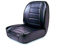 Rugged Ridge Low-Back Front Seat; Black (76-02 Jeep CJ5, CJ7, Wrangler YJ & TJ)