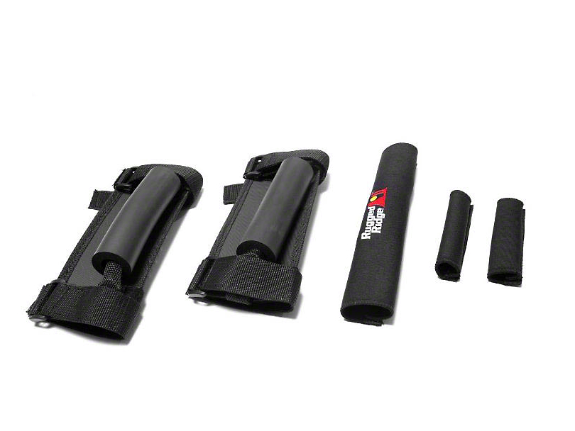 Rugged Ridge Grab Handle/Cover Kit - Black (87-95 Jeep Wrangler YJ)