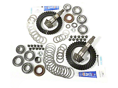 Alloy USA Dana 44F/44R Ring Gear and Pinion Kit w/ Master Overhaul Kit - 4.56 Gears (07-18 Wrangler JK Rubicon)
