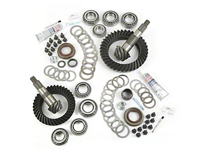 Alloy USA Dana 30F/44R Ring Gear and Pinion Kit w/ Master Overhaul Kit - 4.88 Gears (07-18 Jeep Wrangler JK, Excluding Rubicon)