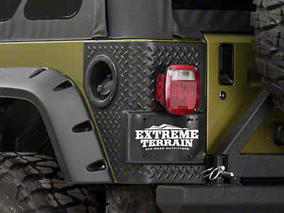 Bushwacker Trail Armor Rear Corner Guards for Pocket Style Flares (97-06 Jeep Wrangler TJ)