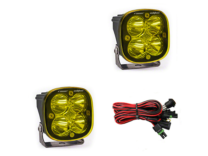 Baja Designs Squadron Racer Edition Amber LED Light - Spot Beam - Pair