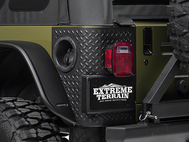 Bushwacker TrailArmor Rear Corner Guards (97-06 Jeep Wrangler TJ, Excluding Unlimited)