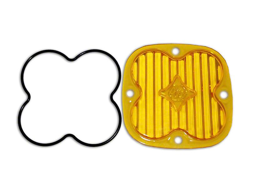 Baja Designs Squadron Series Amber Lens Kit - Wide Cornering Beam (87-19 Jeep Wrangler YJ, TJ, JK & JL)