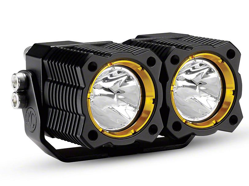 KC HiLiTES FLEX Dual LED Light - Spread Beam
