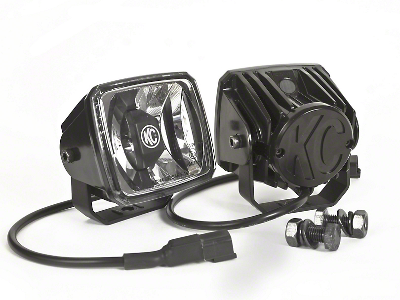 KC HiLiTES 3x4-Inch Gravity G34 LED Lights; Wide-40 Beam; Pair