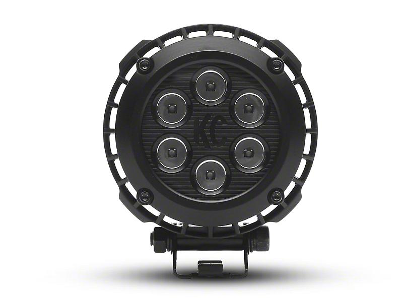 KC HiLiTES 4 in. LZR Series LED Round Light - Spot Beam - Pair