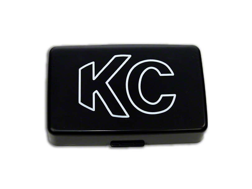 KC HiLiTES 5x7-Inch 57 Series Cover; Black