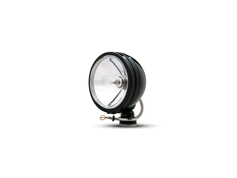 KC HiLiTES 6 in. Black Daylighter Round Halogen Lights - Spot Beam