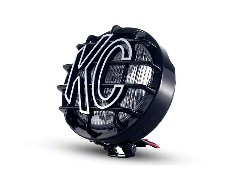 KC HiLiTES 6 in. Black SlimLite Round Halogen Light - Fog Beam