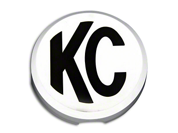 KC HiLiTES 6 in. Daylighter/Slimlite Cover - Black (87-18 Jeep Wrangler YJ, TJ, JK & JL)
