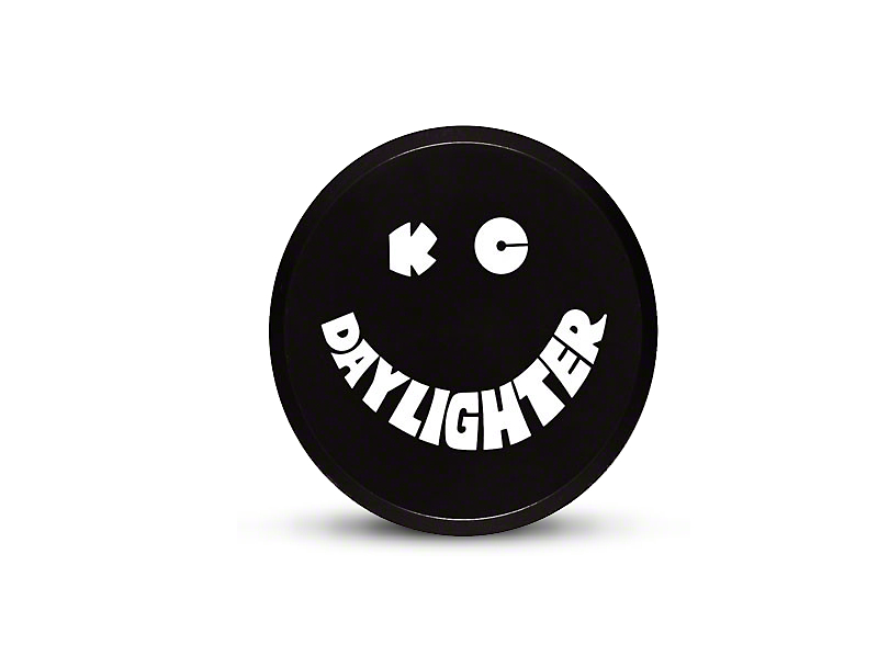 KC HiLiTES 6 Inch Daylighter/Slimlite Cover; Black