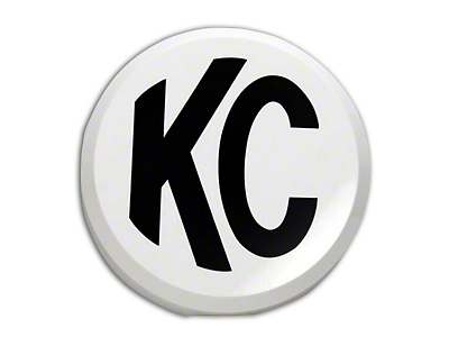 KC HiLiTES 6 in. Daylighter/Slimlite Cover - White (87-18 Jeep Wrangler YJ, TJ, JK & JL)