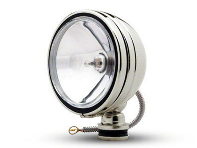 KC HiLiTES 6-Inch Stainless Steel Daylighter Round Halogen Light; Spot Beam