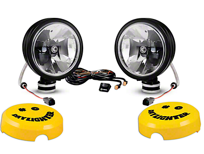 KC HiLiTES 6 in. Stainless Steel Gravity Daylight LED Round Light - Driving Beam - Pair (87-18 Wrangler YJ, TJ, JK & JL)