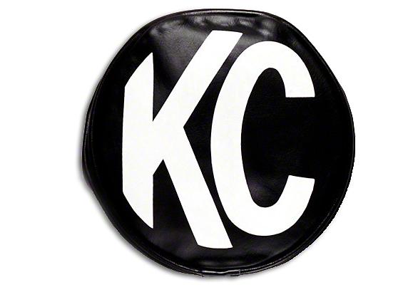 KC HiLiTES 8 in. Soft Vinyl Cover for Round Lights - Black (87-18 Wrangler YJ, TJ, JK & JL)