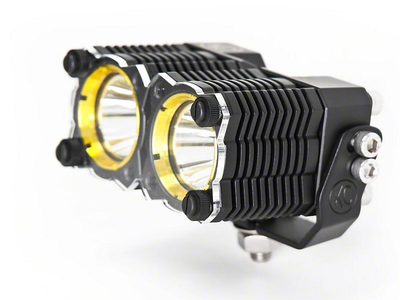 KC HiLiTES Amber Dual Light Shield for KC Flex