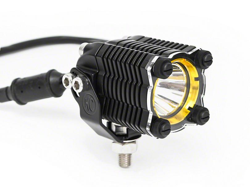 KC HiLiTES Amber Light Shield for KC Flex (87-19 Jeep Wrangler YJ, TJ, JK & JL)