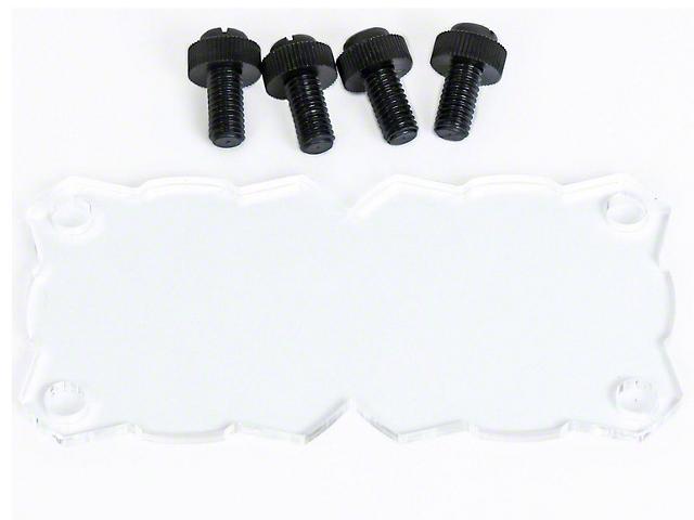 KC HiLiTES KC Flex Dual LED Light Shield; Clear