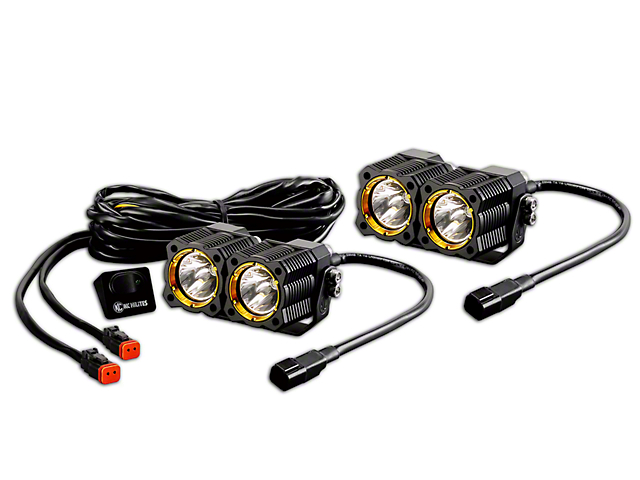 KC HiLiTES Flex Dual LED Light - 20W Spread Beam - Pair