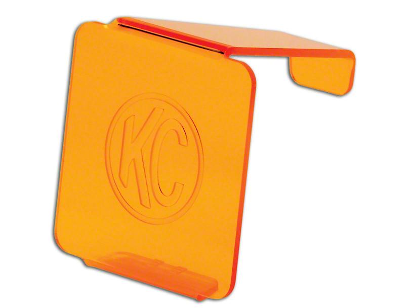 KC HiLiTES Hard Cover for 3 in. LZR Cube Light - Orange (87-20 Jeep Wrangler YJ, TJ, JK & JL)