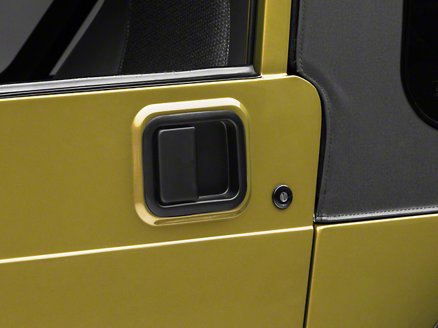 Paddle Door Handle; Black (87-06 Jeep Wrangler YJ & TJ w/ Steel Doors)
