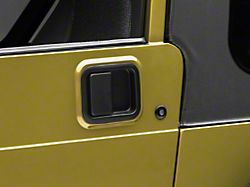 Paddle Door Handle; Driver and Passenger Side; Black (87-06 Jeep Wrangler TJ w/ Full Steel Doors)