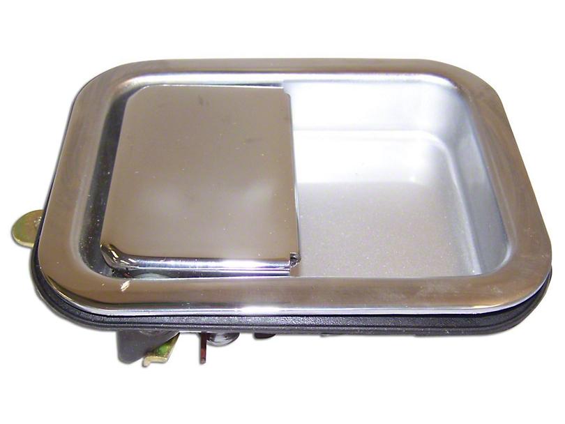 Paddle Door Handle; Chrome (87-06 Jeep Wrangler YJ & TJ w/ Steel Doors)