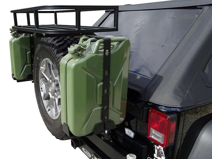 LoD Offroad Destroyer 5 Gallon Jerry Can Mount - Textured Black (07-18 Jeep Wrangler JK)