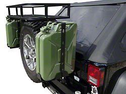 LoD Offroad Destroyer 5 Gallon Jerry Can Mount - Driver & Passenger Side - Textured Black (07-18 Jeep Wrangler JK)