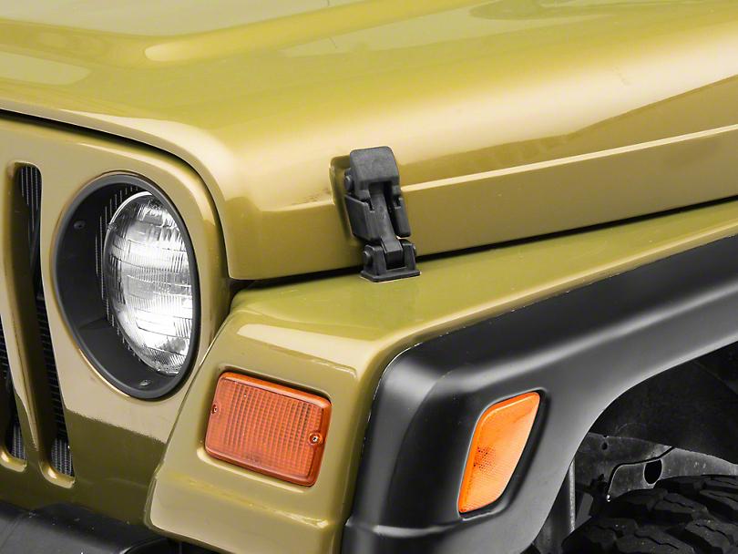 Black Hood Catch Kit (97-06 Jeep Wrangler TJ)