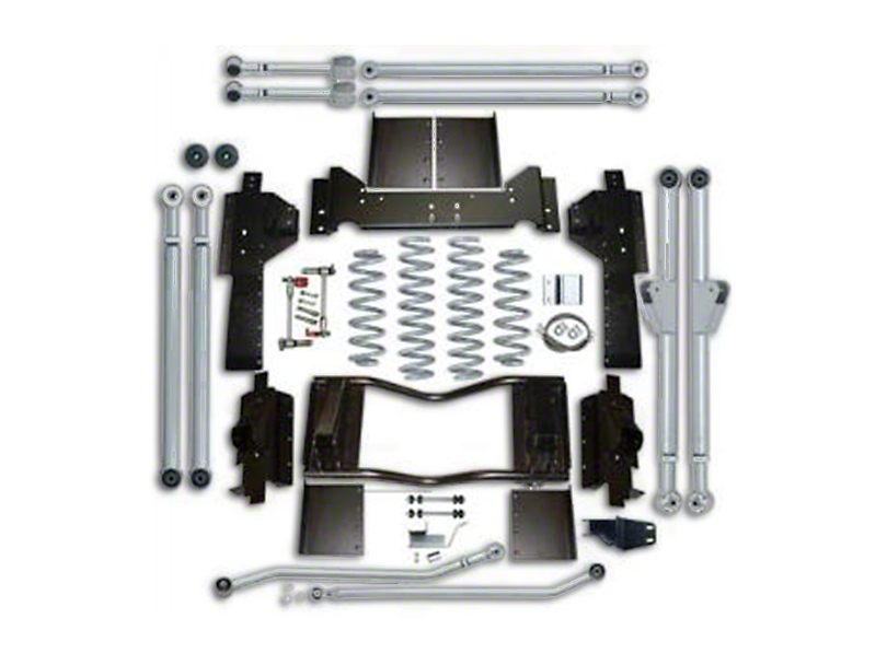 Rubicon Express 3.5 in. Progressive Coil Spring Extreme Duty 4-Link Front & 3-Link Rear Long Arm Suspension Lift Kit (07-18 Wrangler JK 4 Door)
